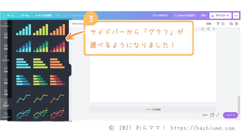 canvaグラフの作り方-パソコン画面